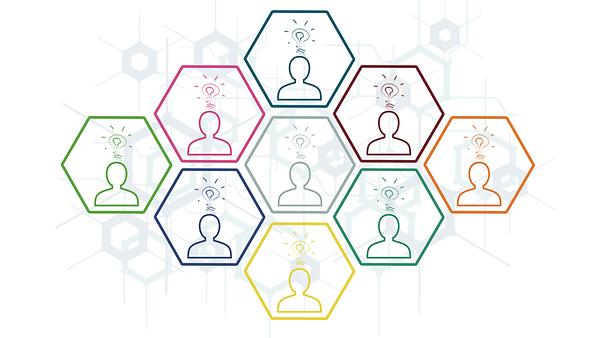 Layoutbild Crowdsourcing (schematische Darstellung)